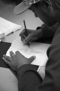 Illustrating. Photo by Jessie Lee Cederblom